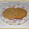 Cookies chocolat au lait, noisettes et pépites de chocolat