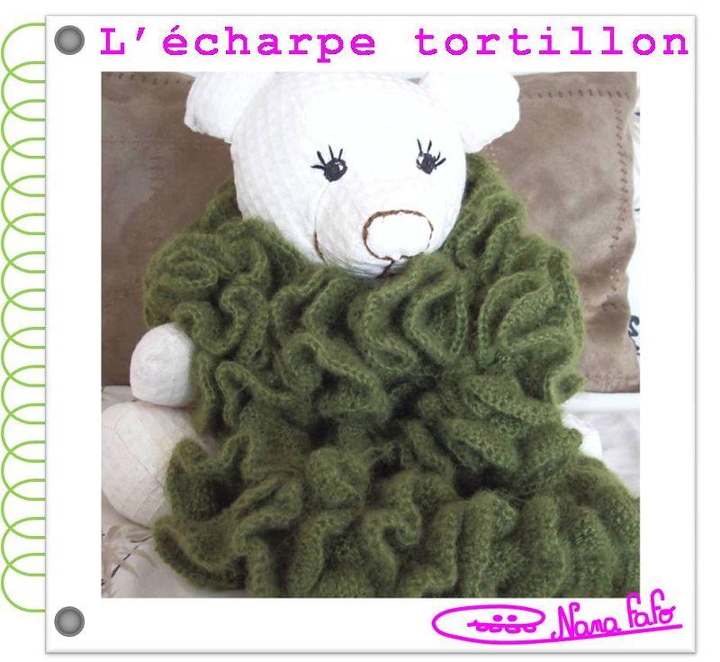 Echarpe tortillon crochet tuto
