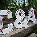 Lettres décorative theme feerique