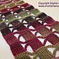 Nouveau modèle écharpe crochet