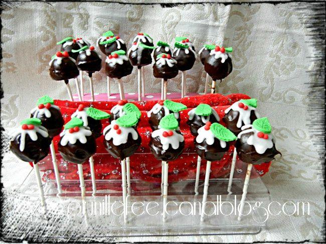 27 cake pops de Noël