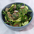 Salade de courgettes blanches et tatiki de thon