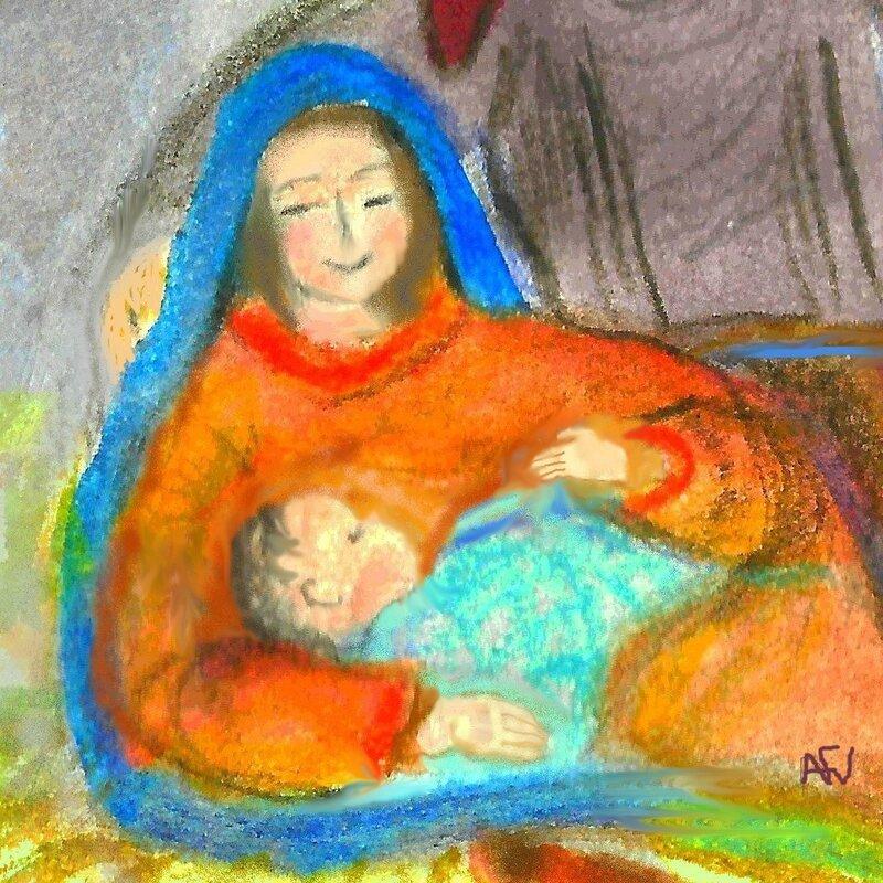 vierge à l'enfant de Noel 2