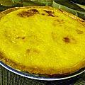 Tarte flan a la fleur d'oranger tarte revolution