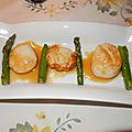 Pétoncles poêlés, sauce au beurre blanc