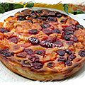 Clafoutis abricots framboises