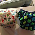 alphabet and frog PUL training panties