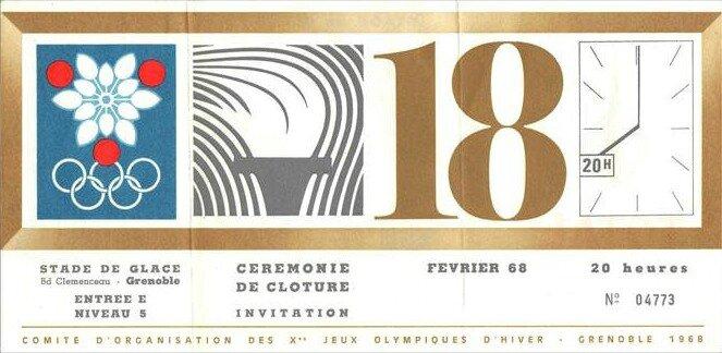 Billet Cérémonie clôture Grenoble BF