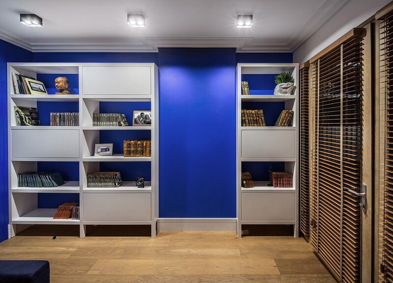 bookshelf-colored-wall
