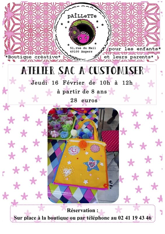 ATELIER 2 sac a customiser