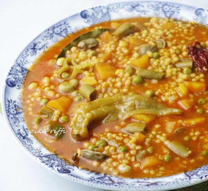 mhamssa jéria bel khodra ( petits plombs au légumes ) 2