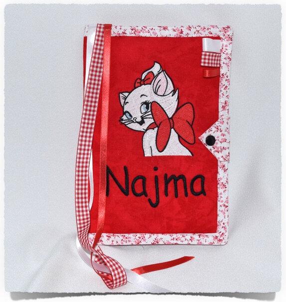 Protège carnet de santé personnalisé CHATON NOEUD NAJMA