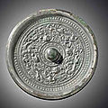 Three bronze circular mirrors, Sui-Tang dynasty, 6th-8th century
