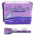 Angels secret - serviettes hygiéniques avec ailettes - 8 serviettes de nuit