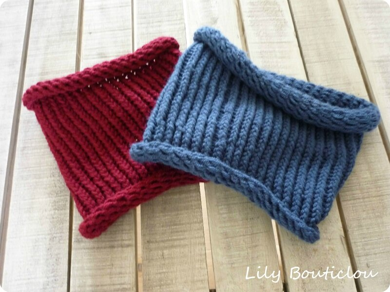 snood tricotin rond géant lilybouticlou
