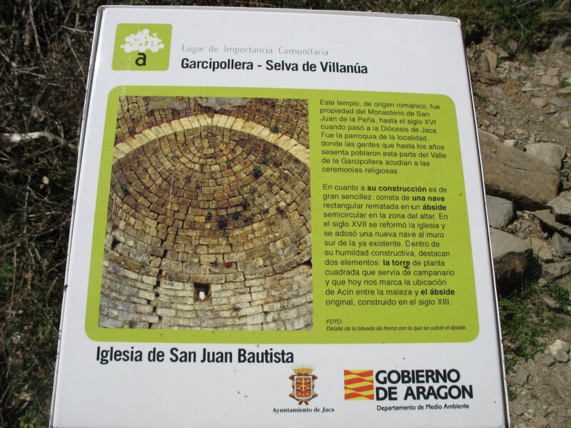 Jaca, église San Juan Bautista, panneau (Espagne)