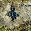 Collier elfique noir et bleu (4)