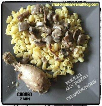 poulet aux porto et champignons au cookeo