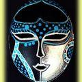 masque style africain bleu