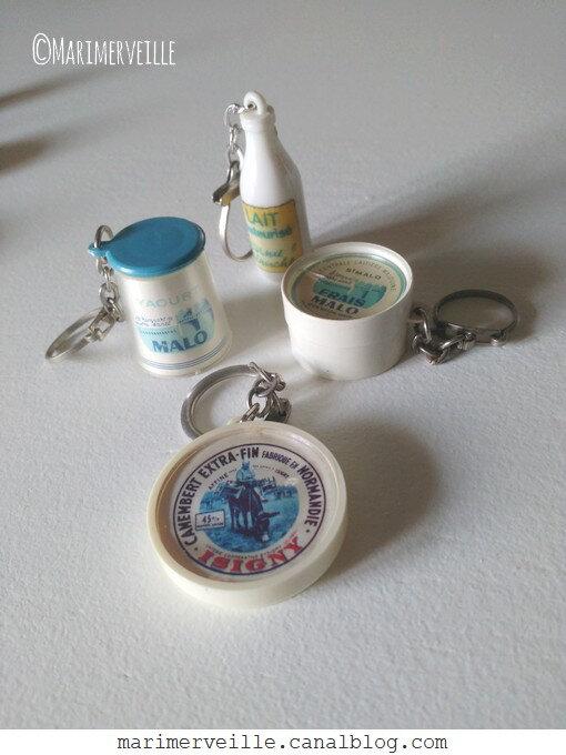 Porte-clés laitage - vintage - Marimerveille