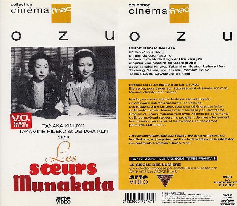 CanalBlog Cinema Ozu K711 Les Soeurs Munakata