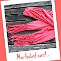foulard corail
