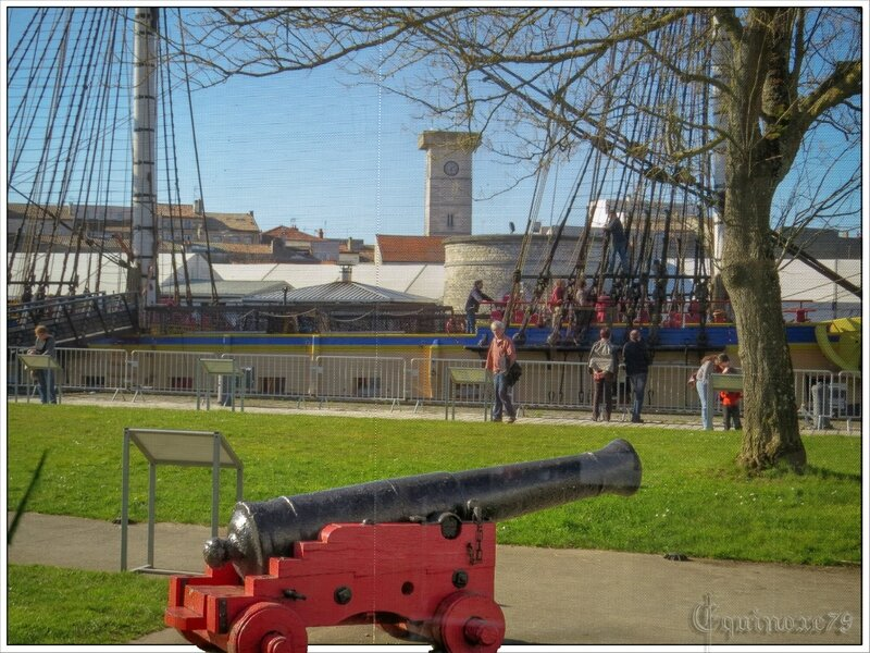 Canon Hermione La Fayette port de Rochefort
