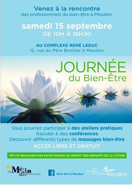 Journée du Bien-Etre à Meudon le 15 septembre à Leduc