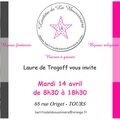 Invitation Laetitia de La Boussinière - Bijoux et Au nom du Père - Bijoux à Tours