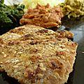 Tofu frit aux graines de tournesol