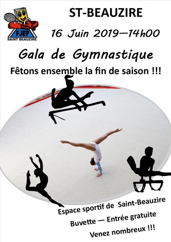 Affiches gala gymnastique Juin 19