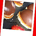 Dôme chocolat blanc/fraises