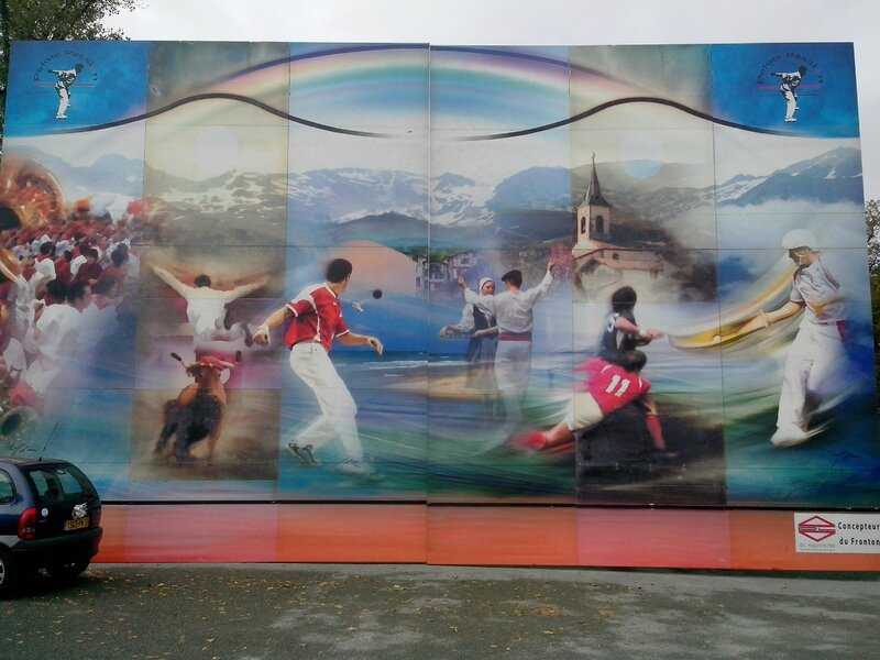 Fresque grandeur nature sur fronton du Haillan