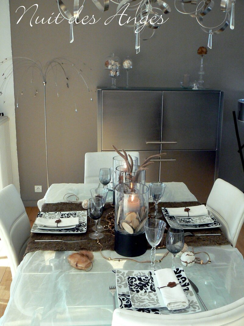 Nuit des anges décoratrice de mariage décoration de table scandinave 001
