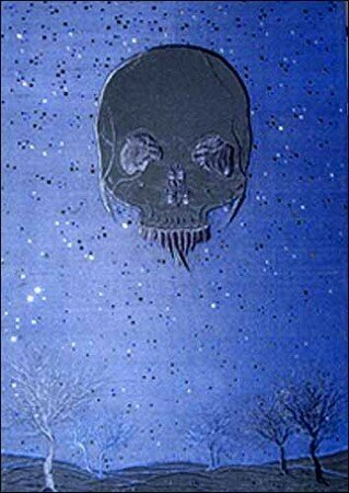 Angelo Filomeno, Moon Dark, 2007. Broderie sur soie. 54 x 41 cm (Courtesy galerie Anne de Villepoix, Paris)