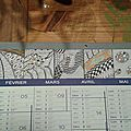 Zentangle sur calendrier