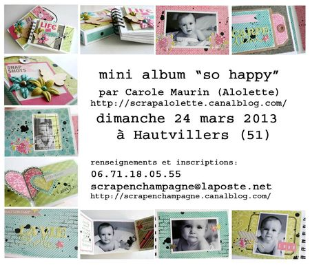 mini album so happy - sneek hautvillers copie