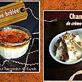 Crème brûlée & chantilly de crème brûlée : 2 recettes en une !
