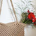 L'accessoire indispensable pour les vacances : sac macramé - diy