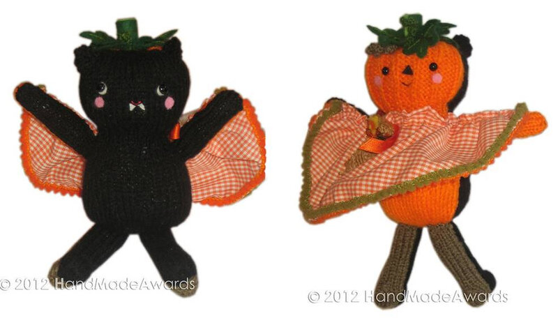 Traduction Bat and Pumpkin Two Faced Halloween Doll - HMA