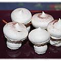 Champignons meringues