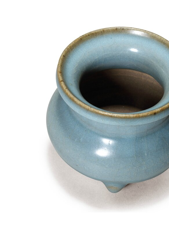 A rare junyao censor with lavender blue glaze, Song or Jin Dynasty (AD960-1234)