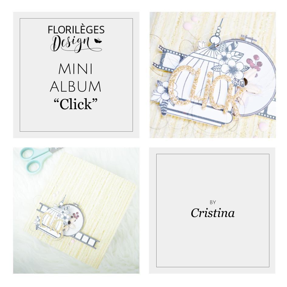 """Zoom Création : mini album """"Click"""" de Cristina"""