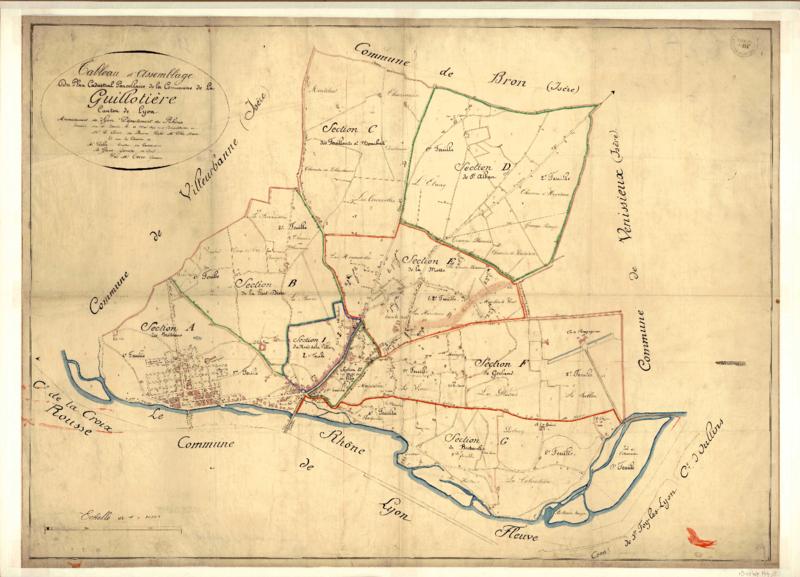 Montchat dans le Cadastre de 1824