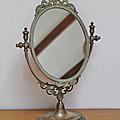 Déco ... miroir ovale * psyché
