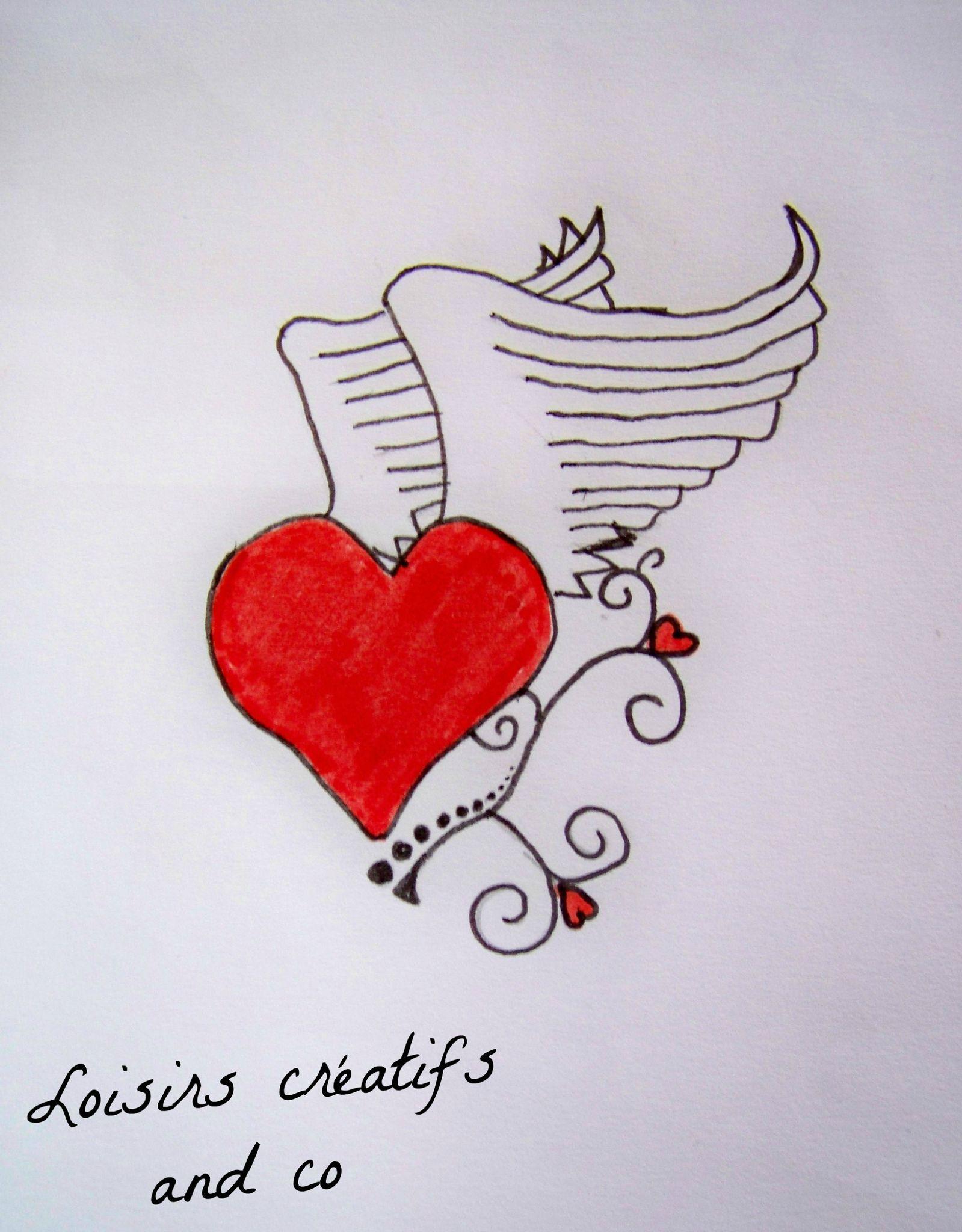 Coeur Ailé Photo De Mes Dessins Loisirs Créatifs And Co