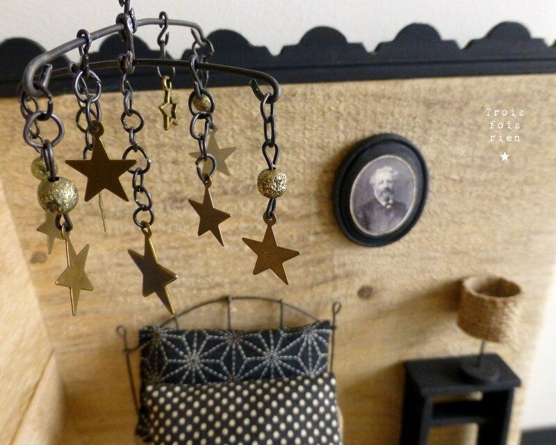 A la belle étoile, Jules Verne, de la terre à la lune, fil de fer, wire, mixmedia art, frenchartist, Trois fois rien, 4