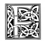 lettre typo celtique F