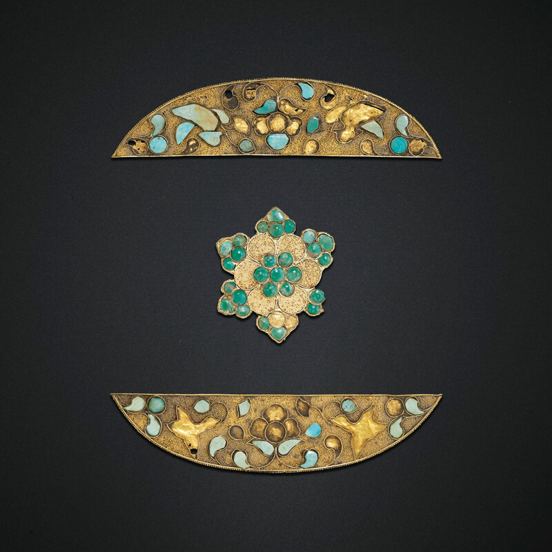 2019_NYR_18338_0575_000(three_turquoise-inlaid_gold_ornaments_tang_dynasty)