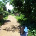Chemin de village près de Moc Chau